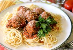 Healthy Spaghetti & Meatballs  Packed with Hidden Vegetables