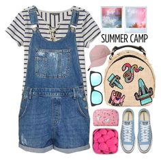 """Summer Camp!!!!!"" by karineminzonwilson ❤ liked on Polyvore featuring L.L.Bean, Topshop, Forever 21, adidas, MSGM, Ray-Ban, summercamp and 60secondstyle"