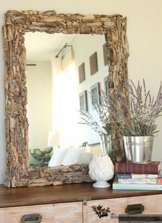 Driftwood mirror / The Wood Grain Cottage