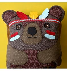 Coussin hibou Ours indien