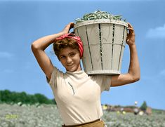 A Basket of Beans 1941 : Colorization Colorized Photos, Beans, Basket, Black And White, Color Pictures, Black White, Blanco Y Negro, Beans Recipes, Prayers