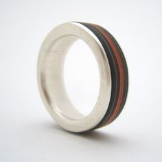 Clara Breen silver and paper ring