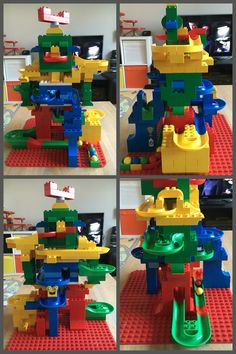 Lego Duplo and Hubelino Robot #hubelino #duplo #knikkerbaan #marbletrack