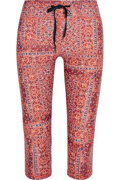 Multicolored stretch-jersey Pull on 70% polyamide, 30% elastane; lining: 92% nylon, 8% elastane Machine wash Designer color: Red Paisley