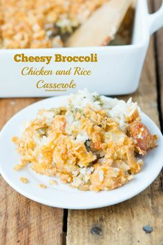 Our kids' favorite cheesy broccoli chicken and rice casserole ohsweetbasil.com