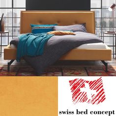 Ein absolutes Highlight für Ihr Schlafzimmer – das knallige Polsterbett Moon Curry, Bed, Design, Furniture, Home Decor, Head Boards, Mattress, Bed Room, Curries