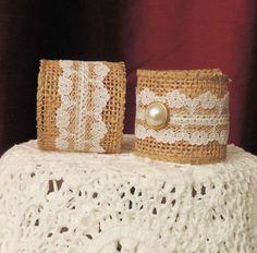 WEDDING NAPKIN RINGS Optional Plain or by ModernClassicbyCarol