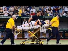 Alex Cobb Hit In Head By Line Drive in St. Petersburg, Florida.