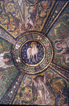 Agnello mistico. Mosaico VI sec. Basilica di San Vitale Ravenna