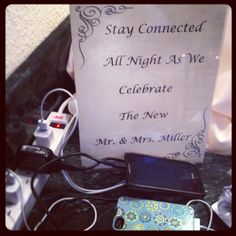 cell phone charging station for your guests!
