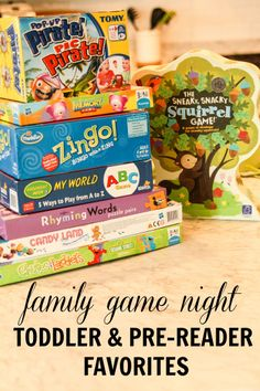 Family Game Night Favorites for Toddlers and Pre-Readers - http://everydaycheer.com/2014/02/11/family-game-night-favorites-for-toddlers-and-pre-readers/