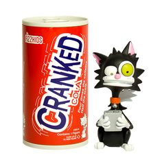 """Meet Cranked Cola.  Since his run-in with some highly caffeinated beverages, he's become one tweaked-out kitty. All his friends want is for him to take a timeout on the texting. """"Hey! I just spotted a laser! Man, I feel like I stuck my tail in an outlet. Oh, snap – a hairball! BRB. BYOB. BLT. BACON! Texting, Caffeine, Bacon, Beverages, Meet, Kitty, Feelings, Friends, Text Messages"""