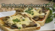 Toast with mushrooms and cheese Baked Potato, Potatoes, Baking, Ethnic Recipes, Food, Potato, Bakken, Essen, Meals