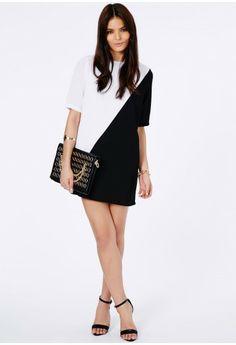 Missguided - Inka Monochrome Shift Dress