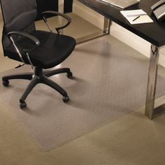 ES Robbins 46 x 60 Rectangular EverLife Chair Mats For Medium Pile Carpet - ESR122371