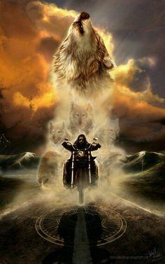 Espírito de motoqueiro.