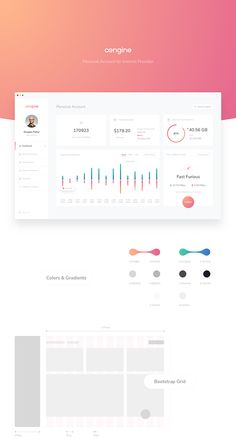 Personal account for internet provider (Redesign concept)