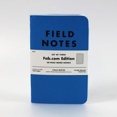 Exclusive Fab Field Notes $8