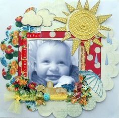 Guest designer Sarah shows us how to make this beautiful layout. Show Us, Layout, Kit, Spring, Frame, How To Make, Inspiration, Beautiful, Design