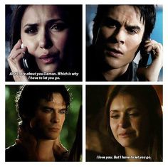 Damon Salvatore and Elena Gilbert ~ The Vampire Diaries ~ Season 6 ~ Episode 1 ~ I'll Remember ~ And from Season 3 Episode 22 The Departed ~