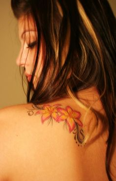 Female Lily Flower Tattoo Design Collection 2011