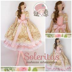 Soleritas Muñecas Artesanales: Tilda en color rosa