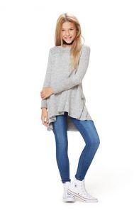 Maddie style grey flared tunic top #tweeninstyle #tweenfashion
