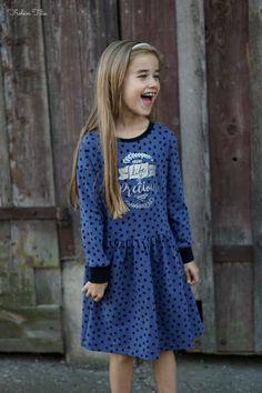 Fons & Sien Dress sewn by Frölein Tilia with Nosh Organic Fabric