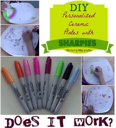 Are sharpies really permanent when baked onto Ceramic Plates? An easy DIY craft tutorial idea to use Sharpie Markers to personalize dinnerware.