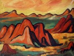 Marsden Hartley (1877–1943)  was one of a circle of American painters that included O'Keeffe, Marin, Dove, and Demuth. Eventually  Maine became Hartley's permanent home, where he wrote poetry and created powerful landscapes and figure paintings inspired by the people and rugged coast and mountains of Maine