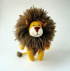 Amigurumi lion. (Inspiration).