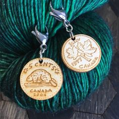 Need a change in your crochet project? Canadian Penny and nickel progress keepers. Created by Sleepy Sheep Workshop Crochet Tools, Crochet Projects, Canadian Penny, Stitch Markers, Knitting, Sheep, Pattern, Workshop, Handmade