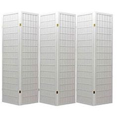 @Overstock - This Oriental Shoji room divider features six wood-frame panels with durable rice paper screens. With white finish on wood, this divider is perfect for adding a touch of class to any room.http://www.overstock.com/Home-Garden/Oriental-Shoji-White-6-panel-Room-Divider-Screen/5182297/product.html?CID=214117 $138.99
