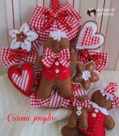 dulces pilukas: Una corona de navidad con galletitas de jengibre.