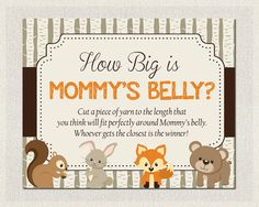 woodland baby shower games - Google Search