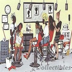 Extension Annie LEE Print African American ART Retired Hairstylist ...