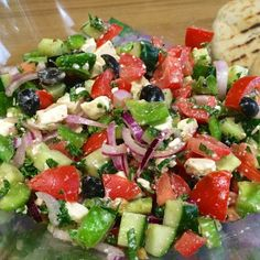 Frisse Griekse salade Easy Healthy Breakfast, Breakfast Ideas, Fruits And Veggies, No Cook Meals, Easy Recipes, Greek Recipes, Dinner Recipes, Healthy Recipes, Bbq Salads