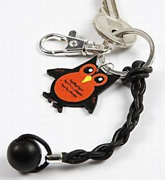 11133 A Keyring with a Leather Cord