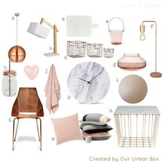 small copper and pink home decor images | 1000+ images about Home: Library on Pinterest | Copper, Copper Paint ...