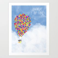 ADVENTURE IS OUT THERE! Art Print  - $15.00 Great for a boys nursery!