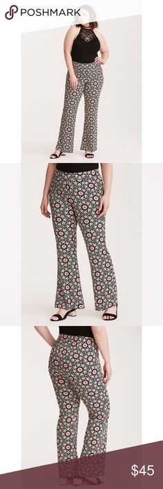 NWT Torrid Insider Floral Border Challis Pants Brand new with tags! Eccentric floral design - perfect for an everyday look or as a hippie for Halloween! Pull on pants - size 20 torrid Pants