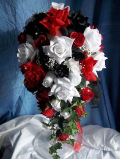 Black red and white bridal bouquet google search wedding stuff black red and white bridal bouquet google search wedding stuff pinterest wedding marriage and red wedding mightylinksfo