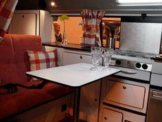 Inside a Danbury VW camper Vw T2 Camper, Caravans, Motorhome, Kitchen Cabinets, Home Decor, Decoration Home, Rv, Room Decor, Camper