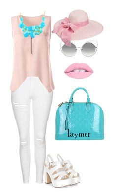 """Pink Sky"" by lyolya-laymer ❤ liked on Polyvore featuring Topshop, Louis Vuitton, Emi Jewellery and Marc Jacobs"