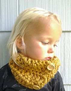 Crochet Cowl. Kids Cowl. Crocheted Neckwarmer. Toddler Baby Child Scarf.. $20.00, via Etsy.