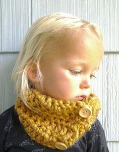 Wool Blend Crochet Cowl. Kids Cowl. Crocheted Scarf Neck Warmer.. $28.00, via Etsy.