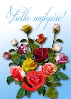 Všetko najlepšie! Birthday Wishes, Birthdays, Flowers, Photos, Board, Wishes For Birthday, Birthday, Royal Icing Flowers, Flower