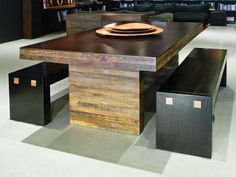 Strip Dining | $2,495 | Environment Furniture Reclaimed Peroba wood recovered from old buildings.