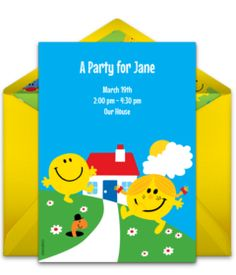 Customizable, free Mr. Men & Little Miss | Friends online invitations. Easy to personalize and send for a Mr. Men birthday party. #punchbowl