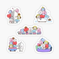 jrosane is an independent artist creating amazing designs for great products such as t-shirts, stickers, posters, and phone cases. Pop Stickers, Tumblr Stickers, Printable Stickers, Bts Emoji, Bts Book, Kpop Diy, Bullet Journal Banner, Bts Merch, Bts Drawings